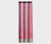 Schal Color Block Half Mega Check aus rosa Kaschmir