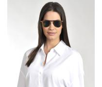 714 Series Sonnenbrille aus braunem Acetat