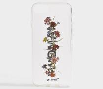 Handyhülle iPhone 8 Flowers aus transparentem Synthetikmaterial