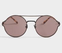 Sonnenbrille mit Antireflective Linsen aus Bronze Metall
