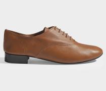 Richelieu Schuhe Charlotte aus Nappaleder in Braun