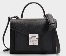 Kleine Schultasche Patricia Park Avenue aus schwarzem Kalbsleder