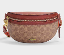 Fanny Pack in Brown Signature Coated Canvas
