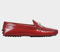 Gommini patent driving loafers