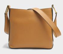 Max S Zip Crossbody Tasche aus camelfarbenem Leder