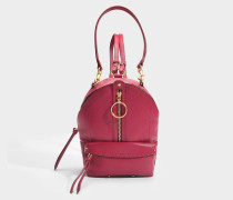 See by Chloé Mino Mini Backpack aus Berry rosa gekörntem Kuhleder