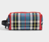 RW Washbag Tasche aus blauer und gelber Baumwolle