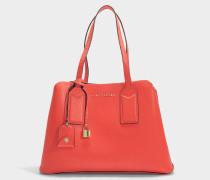 Handtasche The Editor aus Leder und Polyurethan in Rot