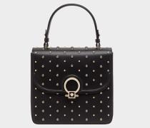 DV One Medium Tasche aus schwarzem Kalbsleder