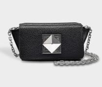 Le Copain Small Bag mit schwarzen Pailletten und Strass