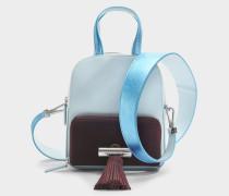 Sailor Top Handle Backpack aus himmelblauem Wildleder