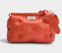 Tasche Glam Slam Medium aus orangem Kalbsleder