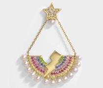 Rainbow Lightausg Bulb Mono Ohrring aus 14K Gold und Edelsteine