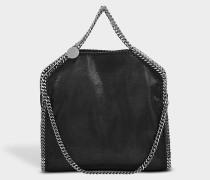 Shaggy Deer Falabella Three Chains Tasche aus schwarzem Öko Leder