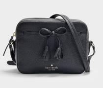 Hayes Street Arla Camera Bag in Black Pebble Leather