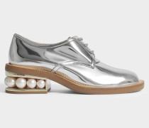 35Mm Casati Pearl Derby Schuhe in Silber aus Polyurethan