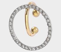Celeste Mono Ohrring aus 18K gelbem und weißem goldfarbenem und Diamanten