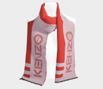 Schal  Sport 35x211 aus roter Wolle