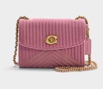 Schultertasche Parker 18 aus rosa Baumwolle