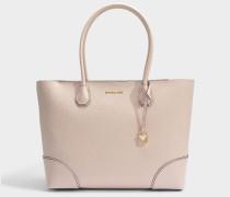 Mercer Gallery Large East-West Top Zip Tote Tasche aus Soft rosanem Mercer Pebble Leder