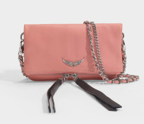 Tasche Rock Nano Crush aus pinkem Leder