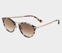 0PO3166S Sonnenbrille aus braunem Acetat