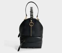 See by Chloé Mino Backpack aus schwarz gekörntem Kuhleder