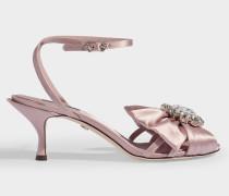 Sandalen Bette mit Steinen aus rosa Satin