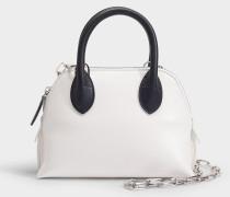 Mini Magot Colorblock Bag aus weißem und schwarzem Kalbsleder