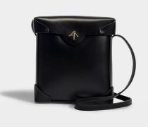 Handtasche Pristine aus pflanzlichem Kalbsleder in Schwarz