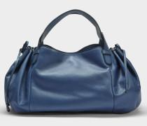 24 GD Tasche aus Denim blauem Kalbsleder