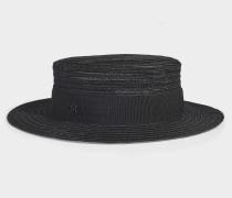 Hut Kiki aus schwarzem Canapa Stroh