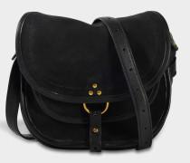 Small Felix Tasche aus schwarzem doppelseitigem Ziegenleder