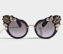 0MU04SS Sonnenbrille aus schwarzem Acetat