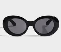 Mustang Sonnenbrille aus schwarzem Acetat