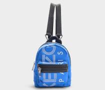 Rucksack Sport Mini Rucksack aus Nylon in Blau