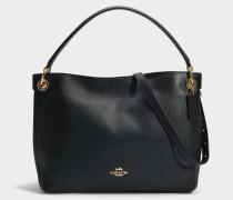 Handtasche Hobo Clarkson aus schwarzem Kalbsleder