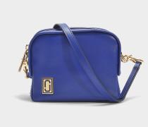 Handtasche The Mini Squeeze aus blauem Kalbsleder