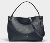 Handtasche Hobo Clarkson aus marineblauem Kalbsleder