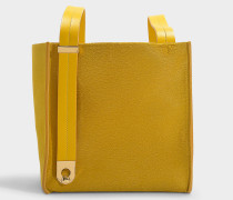 Handtasche Exchange Cube aus Kalbsleder in Safrangelb