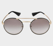 0PR 51SS Sonnenbrille aus braunem Metall und Acetat