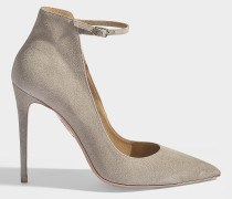 Pumps 105 Sharon aus grauem Veloursleder