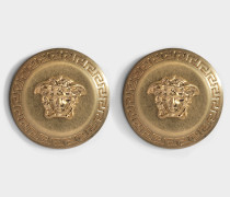 Logo Ohrringe aus goldfarbenem Metall