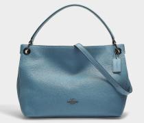 Handtasche Hobo Clarkson aus blauem Kalbsleder