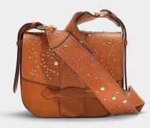 Gemma Cordoba medium Crossbody Bag aus cognacfarbenem Kalbsleder