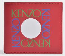 Fold Wallet in Red Split Leather