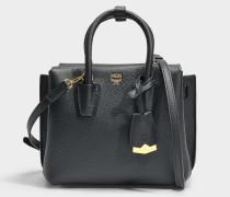 Milla Mini Tote Park Avenue Tasche aus schwarzem Park Avenue Leder