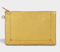 Popoche L Tasche aus goldfarbenem Lammleder