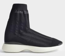 Batilda Sock Sneaker aus schwarzem Nylon