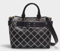 The Small Belt Bag in Black Calfskin